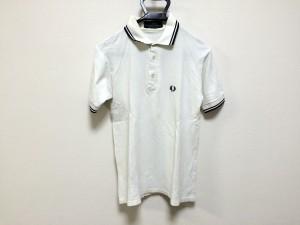 フレッドペリー FRED PERRY 半袖ポロシャツ サイズ38 M メンズ 白×ダークネイビー【中古】