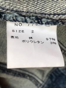 マニックス manics Gジャン サイズ2 M レディース ブルー【中古】