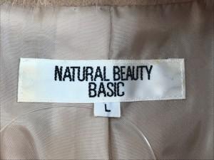 ナチュラルビューティー ベーシック NATURAL BEAUTY BASIC コート サイズL レディース ベージュ 冬物【中古】