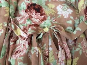 リズリサ LIZLISA ワンピース レディース ピンクベージュ×マルチ フリル/花柄【中古】