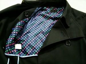 ポールスミスブラック PaulSmith BLACK トレンチコート サイズ40 M レディース 美品 黒 春・秋物【中古】