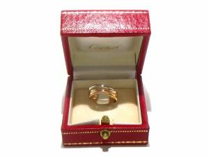 カルティエ Cartier 3連リング 50 美品 トリニティ K18スリーカラー【中古】