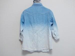 ダブルクローゼット w closet 長袖シャツブラウス サイズF レディース 美品 ライトブルー×ブルー デニム【中古】