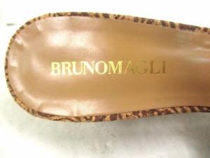 ブルーノマリ BRUNOMAGLI ミュール 37 1/2 レディース 美品 ライトブラウン ウェッジソール レザー【中古】