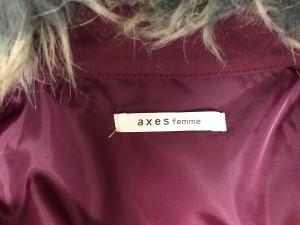 アクシーズファム axes femme コート レディース 美品 ボルドー 春・秋物/レース【中古】
