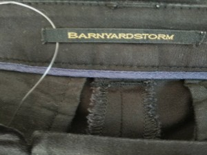 バーンヤードストーム BARNYARDSTORM パンツ サイズ2 M レディース 美品 黒【中古】