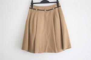 アプワイザーリッシェ Apuweiser-riche スカート サイズ1 S レディース 美品 ライトブラウン×ダークブラウン【中古】