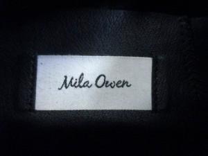 ミラオーウェン Mila Owen スリッポン 38 レディース ダークグリーン×白 ウール×ラバー【中古】