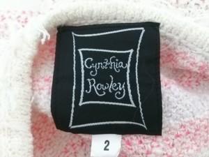 シンシアローリー CYNTHIA ROWLEY ジャケット サイズ2 S レディース 美品 アイボリー×ピンク ニット【中古】