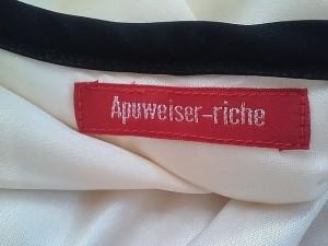 アプワイザーリッシェ Apuweiser-riche 七分袖カットソー サイズ2 M レディース 美品 アイボリー×黒【中古】