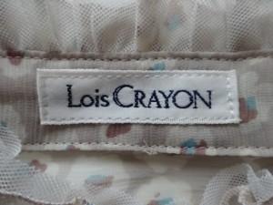 ロイスクレヨン Lois CRAYON ノースリーブシャツブラウス サイズM レディース ベージュ×マルチ フリル/シースルー【中古】