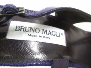 ブルーノマリ BRUNOMAGLI サンダル 35 1/2 レディース 美品 パープル 型押し加工 レザー【中古】
