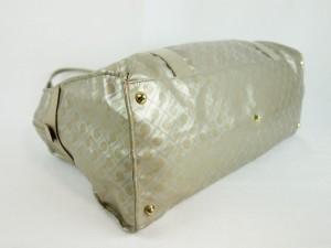 ゲラルディーニ GHERARDINI ショルダーバッグ シルバー×ベージュ PVC(塩化ビニール)×レザー【中古】