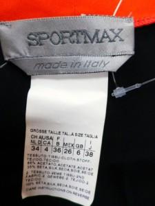 スポーツマックス SPORTMAX ワンピース サイズ38(I) S レディース 黒×レッド【中古】