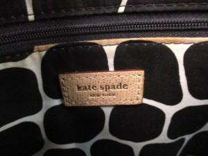 ケイトスペード Kate spade ハンドバッグ ベージュ 天然繊維×レザー【中古】