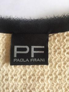 パオラ フラーニ PAOLA FRANI ワンピース レディース 美品 ベージュ×黒×イエロー ニット【中古】