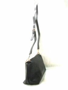 セントレアマラント Sentore Amaranto ショルダーバッグ 黒 ショルダーストラップ着脱可 合皮【中古】