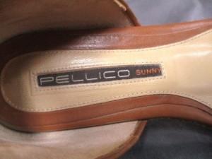 ペリーコ PELLICO サンダル 35 レディース ゴールド×ダークブラウン ラメ/SUNNY 化学繊維×レザー【中古】