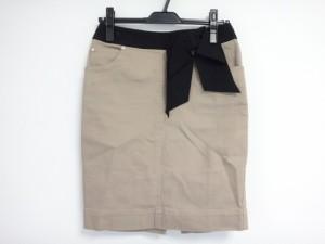 エポカ EPOCA スカート サイズ40 M レディース ブラウン×黒 リボン【中古】