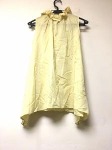 サクラ SACRA ノースリーブシャツブラウス サイズ38 M レディース 美品 イエロー フリル【中古】