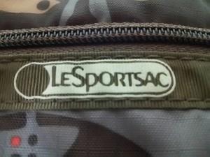 レスポートサック LESPORTSAC リストレット ダークブラウン×グレー×マルチ レスポナイロン【中古】