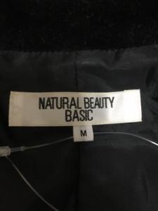ナチュラルビューティー ベーシック NATURAL BEAUTY BASIC ジャケット サイズM レディース ダークネイビー ベロア【中古】
