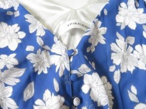 スパイラルガール SpiralGirl オールインワン サイズ1 S レディース 美品 ブルー×ピンク 花柄【中古】