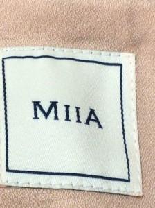 ミーア Miia コート サイズ2 M レディース ベージュ×グレー 春・秋物【中古】