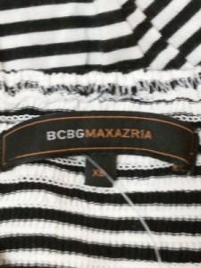 ビーシービージーマックスアズリア BCBGMAXAZRIA チュニック レディース 黒×白 ボーダー【中古】
