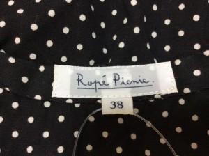 ロペピクニック RopePicnic ワンピース サイズ38 M レディース 美品 黒×アイボリー シャツワンピ/ドット柄【中古】