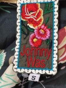 ジョニーワズ johnny was カットソー サイズS レディース グリーン×グレー×マルチ 花柄/シルク【中古】