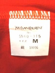 イヴサンローラン YvesSaintLaurent 半袖カットソー レディース 美品 レッド【中古】