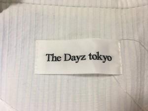 ザデイズトウキョウ The Dayz tokyo コート レディース 白×ライトグレー ストライプ【中古】