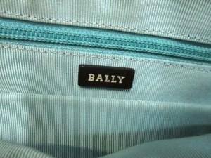 バリー BALLY ハンドバッグ ダークブラウン×白 レザー【中古】