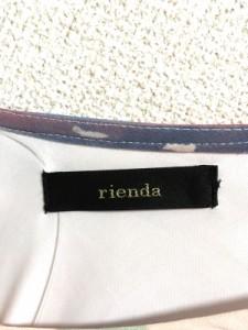 リエンダ rienda ワンピース レディース ピンクベージュ×マルチ【中古】