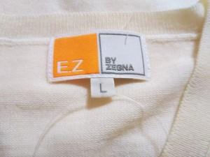 ゼニア E.Z BY ZEGNA 長袖セーター サイズL メンズ アイボリー【中古】