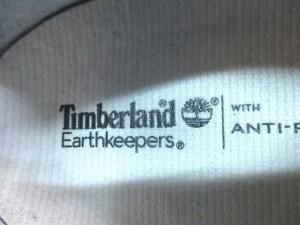 ティンバーランド スニーカー レディース ネイビー×ベージュ インソール取り外し可/Earthkeepers キャンバス×スエード【中古】
