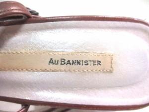 オウバニスター Au BANNISTER サンダル 38 レディース ブラウン×ゴールド×グリーン レザー【中古】