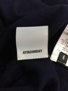 アタッチメント ATTACHMENT カーディガン サイズ1 S メンズ 美品 ダークネイビー×ライトグレー【中古】