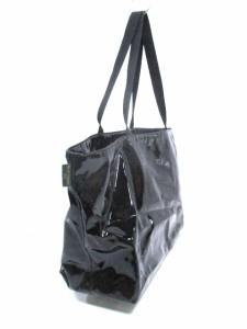 エルベシャプリエ Herve Chapelier ショルダーバッグ 黒 PVC(塩化ビニール)×化学繊維【中古】