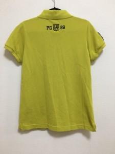 パーリーゲイツ PEARLY GATES 半袖ポロシャツ レディース 美品 ライトグリーン×黒×イエロー【中古】
