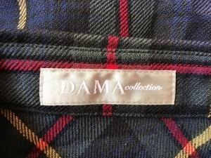 ダーマコレクション DAMAcollection 長袖シャツブラウス サイズ11 M レディース カーキ×ネイビー×マルチ チェック柄【中古】