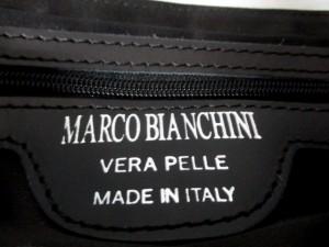 マルコビアンキーニ MARCO BIANCHINI ハンドバッグ レディース 白×黒×マルチ レザー×スエード【中古】