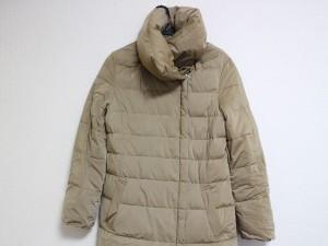 ボールジー BALLSEY ダウンコート サイズ38 M レディース ベージュ ジップアップ/冬物【中古】