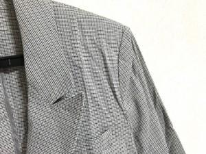 セオリーリュクス theory luxe ジャケット サイズ40 M レディース アイボリー×グレー×黒 麻混/肩パッド【中古】