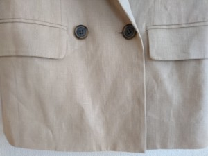 フローレント FLORENT ジャケット レディース 美品 ベージュ 麻混/肩パッド【中古】