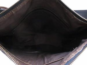 パトリックコックス PATRICK COX ショルダーバッグ ネイビー×ベージュ PVC(塩化ビニール)×レザー【中古】