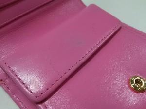 ミュベール MUVEIL 2つ折り財布 ピンク フラワー/スタッズ レザー【中古】