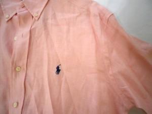 ラルフローレン RalphLauren 半袖シャツ サイズS メンズ ピンク【中古】