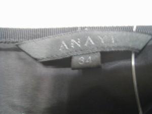 アナイ ANAYI ミニスカート サイズ34 S レディース 美品 黒 ラメ【中古】